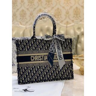 クリスチャンディオール(Christian Dior)のChristian Dior クリスチャン ディオール トートバッグ ネイビー(その他)