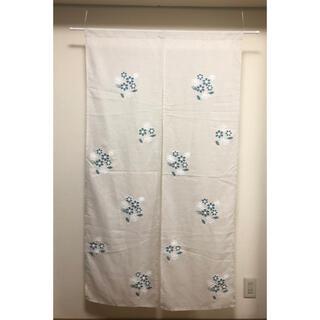 刺繍のれん ブーケ85cmx150cm(のれん)