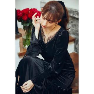 snidel - herlipto lux velour lace midi dress M💟