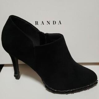 RANDA - 【未使用】RANDAビーズ付きスウェードショートブーツ