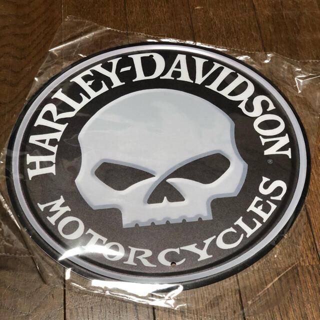 Harley Davidson(ハーレーダビッドソン)のハーレーダビッドソン スカル ブリキ看板 Φ300 自動車/バイクの自動車/バイク その他(その他)の商品写真