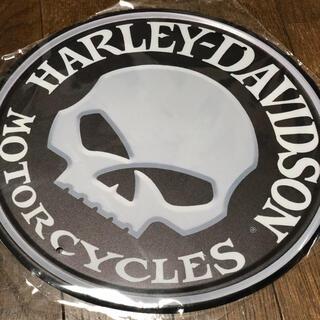 ハーレーダビッドソン(Harley Davidson)のハーレーダビッドソン スカル ブリキ看板 Φ300(その他)