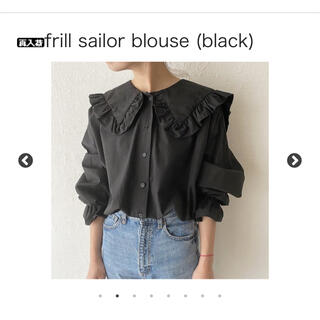 HOWDY frill sailor blouse (black)