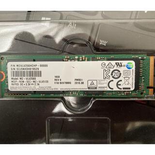 サムスン(SAMSUNG)のSamsung m.2 2280 ssd 256GB NVMe(PCパーツ)