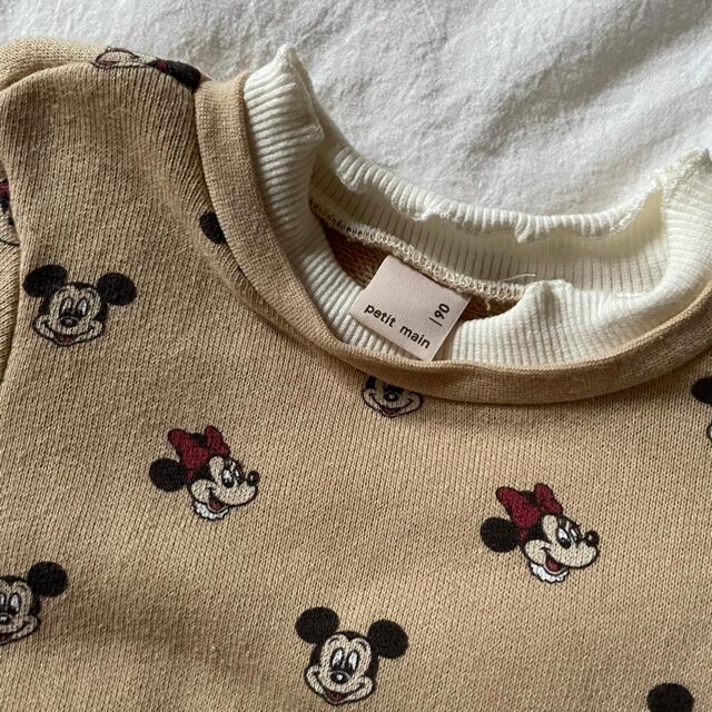 petit main(プティマイン)のプティマイン ディズニー トーレナー 美品 90 キッズ/ベビー/マタニティのキッズ服女の子用(90cm~)(Tシャツ/カットソー)の商品写真