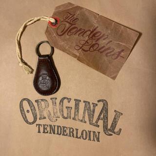 テンダーロイン(TENDERLOIN)の絶版! TENDERLOIN PORTER キーリング レザー ブラウン 茶(キーホルダー)