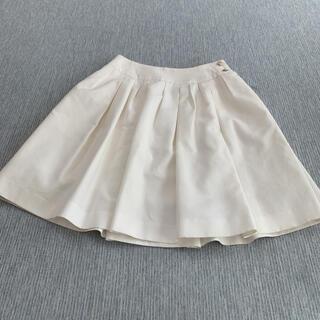 フォクシー(FOXEY)のレアスカート プリーツスカート チュールスカート【FOXEY】白色(ひざ丈スカート)