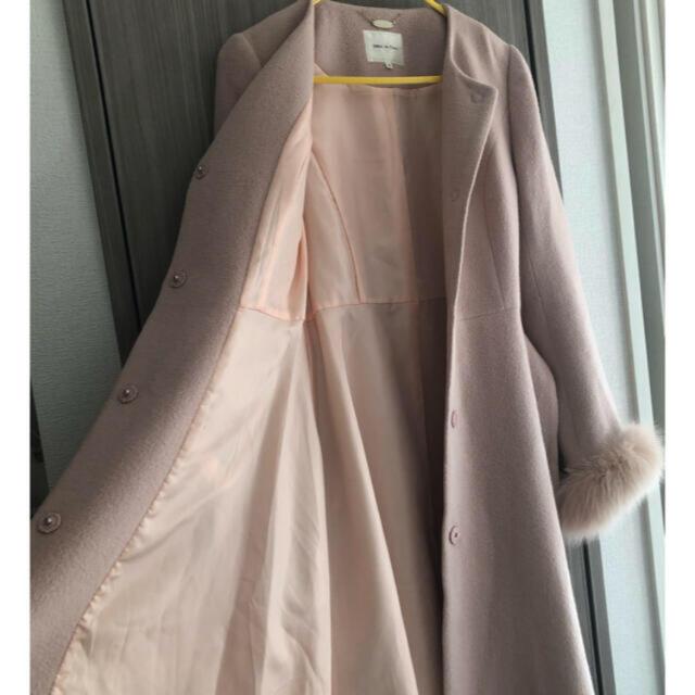 Debut de Fiore(デビュードフィオレ)の週末限定価格 デビュードフィオレ ノーカラー コート レディースのジャケット/アウター(ロングコート)の商品写真