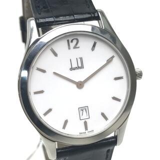 ダンヒル(Dunhill)のダンヒル BB11459 デイト クロコ型押し 腕時計 SS×革ベルト ブラック(腕時計(アナログ))