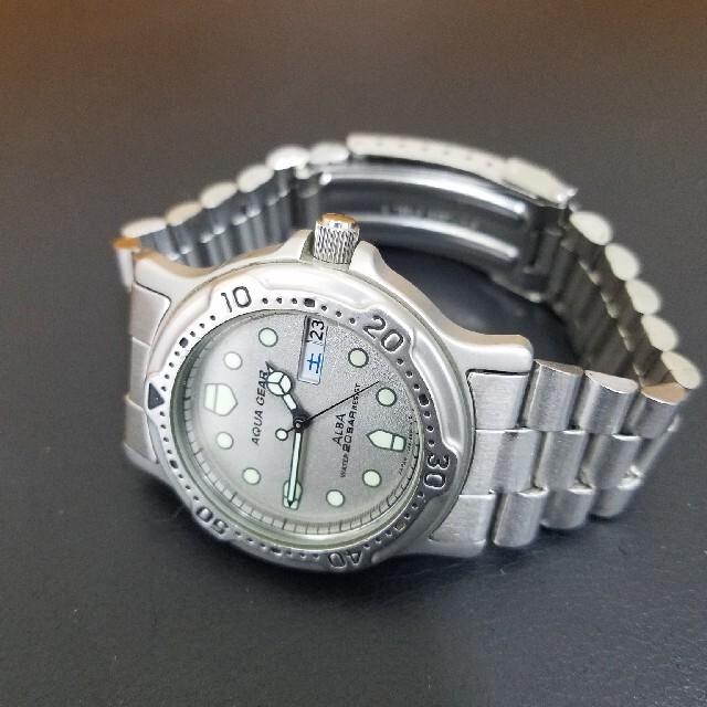 ALBA(アルバ)のセイコーアルバ アクアギア 新品電池交換済み メンズの時計(腕時計(アナログ))の商品写真