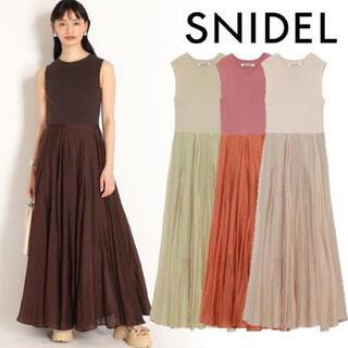 snidel - snidel ニット&シアースカートドッキングワンピース