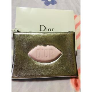 Christian Dior - ディオール ノベルティ リップ シルバーポーチ箱付き