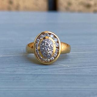 18金ダイヤモンドサークルリング