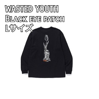 WASTED YOUTH × Black eye patch ロンT L