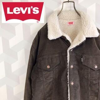 Levi's - 【USA製 リーバイス】ボアコーデュロイランチジャケットブラウン茶LLevis