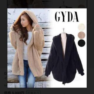 GYDA - GYDA フードボアコート ブラック