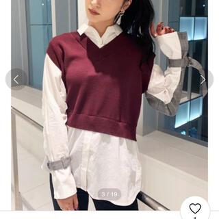 エモダ(EMODA)のEMODA ドッキングニットベストシャツ(シャツ/ブラウス(長袖/七分))
