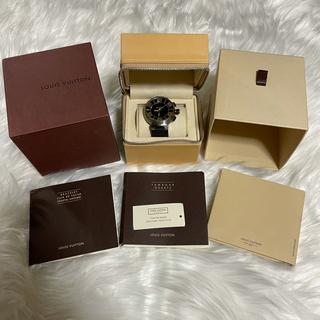 ルイヴィトン(LOUIS VUITTON)の本物 ルイヴィトン タンブールインブラック Q118F メンズ SSラバーベルト(腕時計(デジタル))