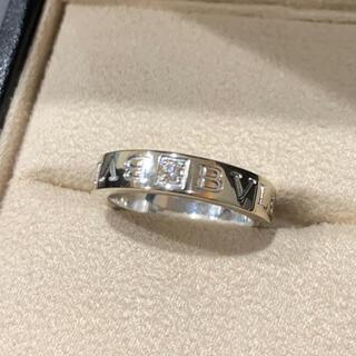 ブルガリ(BVLGARI)の数回 定価26.2万 ブルガリ ロゴダイヤリング WG ホワイトゴールド 箱(リング(指輪))