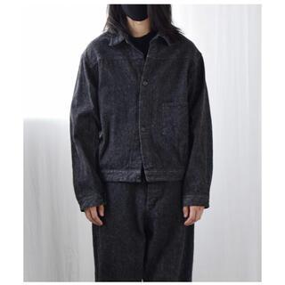 COMOLI - 新品 21ss COMOLI デニムジャケット black ecru シャツ