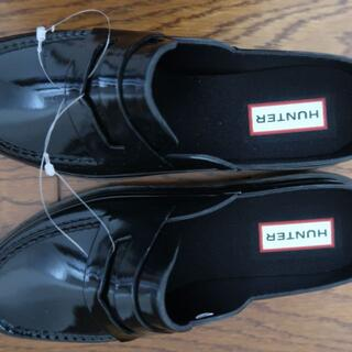 ハンター(HUNTER)のハンター HUNTER BACKLESS GLOSS  ペニー ローファー黒(ローファー/革靴)