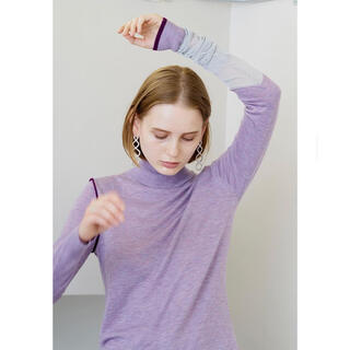soduk  スドーク one long knit top  パープル