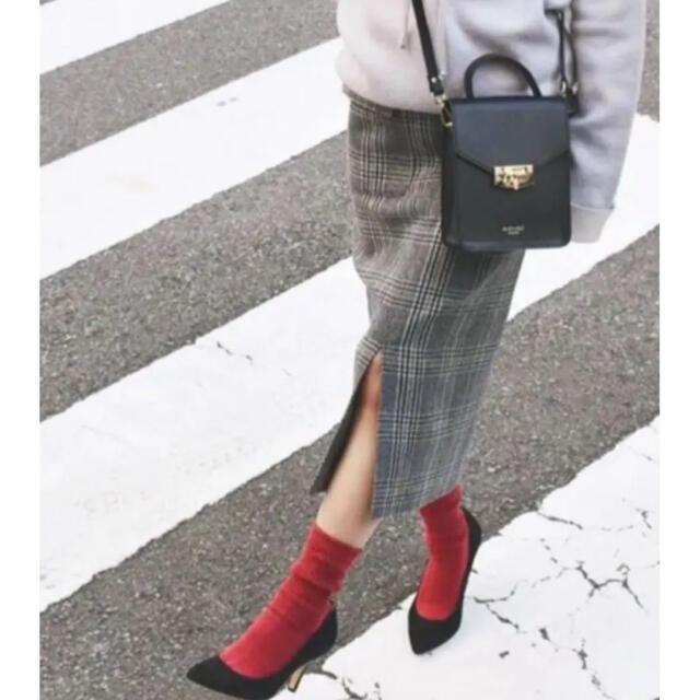 Spick and Span(スピックアンドスパン)の最終値下げ!Wポケットツィードタイトスカート 38 グレー レディースのスカート(ロングスカート)の商品写真
