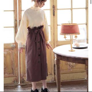 GRL - グレイル ベルト付きコーデュロイボタンスカート
