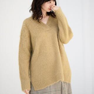 apart by lowrys - アパートバイローリーズ★シャギーVネックニット★税込7,700円