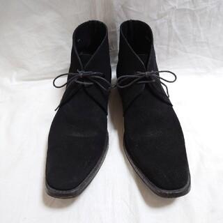 シップス(SHIPS)のSHIPS シップス チャッカブーツ スウェード レザー 黒 ブラック (ブーツ)