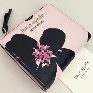 kate spade new york - WLRU6137 ケイトスペード キャメロン フラワー 二つ折り財布 ピンク