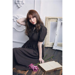 snidel - 【新品未使用】her lip to Striped Midi Dress