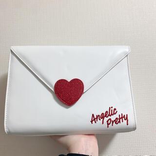 アンジェリックプリティー(Angelic Pretty)のlovely letter bag Angelic Pretty シロ(ハンドバッグ)