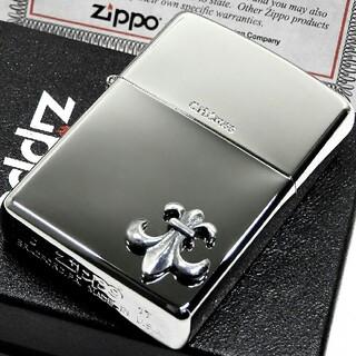 ジッポー(ZIPPO)の送料無料☆zippo☆限定☆ワンポイントリリーエンブレムメタル☆ジッポ(タバコグッズ)