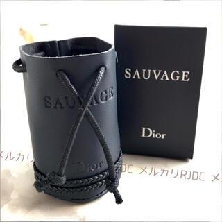 Christian Dior - 【新品未開封】ディオール レザー調 ネイビー ミニポーチ コインケース