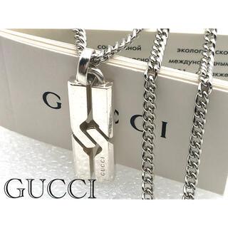 Gucci - 美品 GUCCI ノット インフィニティ ネックレス シルバー925