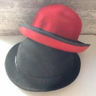 美品   赤いハット帽&黒いハット帽♪(ハット)