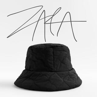 ザラ(ZARA)の週末限定お値下げ‼︎ZARA キルティング バケット  ハット 新品(ハット)