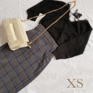 GU チェックタイトスカート XS