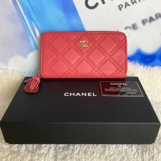 シャネル(CHANEL)の超極美品✨シャネル ワイルドステッチ ラウンドジップ 長財布(財布)