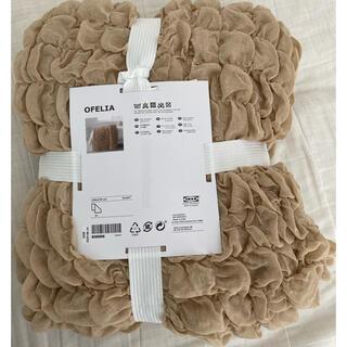 イケア(IKEA)のIKEA イケア オフェーリア ベージュ 新品 匿名配送(シーツ/カバー)