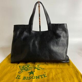 IL BISONTE - IL BISONTE ハンドバッグ レザー 型押しロゴ 保存袋付き