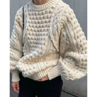 STUDIOUS - CLANE クラネ HAND CABLE ARCH KNIT TOPS ニット