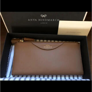 ANYA HINDMARCH - アニヤハインドマーチ 長財布 ダブルジップ 茶 新品