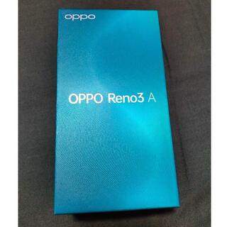 オッポ(OPPO)のOPPO Reno3 A ブラック 未使用品 SIMフリー yモバイル版(スマートフォン本体)