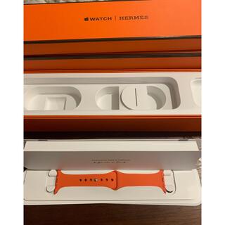 Apple Watch - 専用 説明書付き Apple Watch HERMES ラバーバンド オレンジ