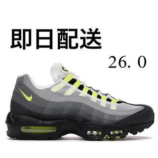 ナイキ(NIKE)のnike air max 95 og neon yellow 26.0(スニーカー)