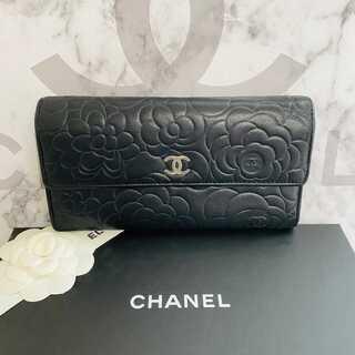 シャネル(CHANEL)の正規品✨シャネル カメリア 二つ折り 長財布(財布)