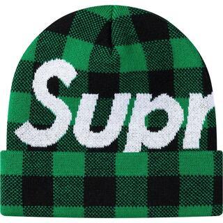 シュプリーム(Supreme)のSupreme Big Logo Beanie Blue チェック ビーニー(ニット帽/ビーニー)