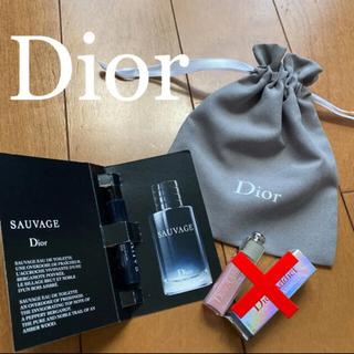 クリスチャンディオール(Christian Dior)のDior ディオール ソヴァージュ サンプル 巾着付き(香水(男性用))